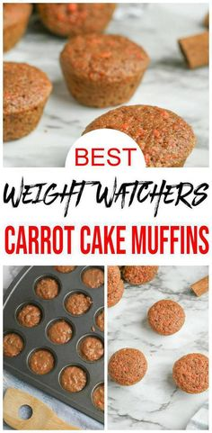 Check out these {EASY} Weight Watchers carrot cake muffins. Great for Weight Watchers breakfast, WW snacks Weight Watchers Freezer Meals, Weight Watchers Cake, Weight Watchers Muffins, Weight Watchers Breakfast, Healthy Freezer Meals, Weight Watchers Desserts, Weight Watchers Carrot Cake Recipe, Healthy Carrot Muffins, Healthy Muffin Recipes