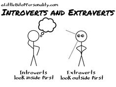 A Little Bit of Personality: What Do All These Letters Mean Anyway? INTROVERTS / Extraverts