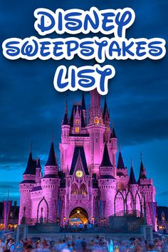 A constantly updated list of Disney World and Disneyland contests and sweepstakes! Pinning this and checking every week!!