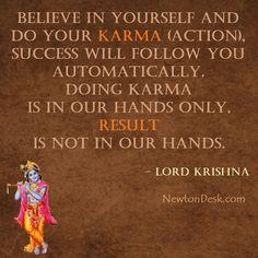 Karmanye Vadhikaraste Ma Phaleshu - Lord Krishna Quotes On Karma Hinduism Quotes, Krishna Quotes In Hindi, Sanskrit Quotes, Radha Krishna Love Quotes, Lord Krishna, Shree Krishna, Krishna Lila, Krishna Art, Krishna Images