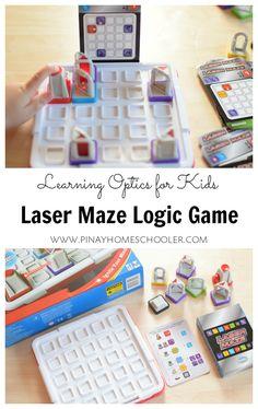 STEM Toy Learning Optics with Laser Maze Logic Game