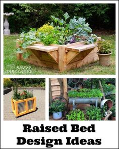 Raised bed designs for gardening: Inspiration, tips, and advice for how to design and build raised beds. #raisedgardenbeds #raisedvegetablegarden