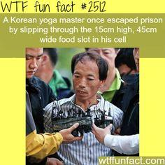 Korean Yoga Master Escapes Prison - WTF fun facts