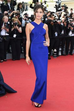 Sara Sampaio in a Stella McCartney dress with Avakia jewelry. See all the celebrities at the Cannes Film Festival.