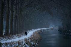 Le canal du Midi sous la neige © P. Nin - Ville de Toulouse #visiteztoulouse