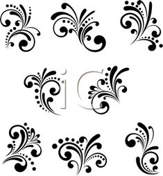 Decorative Victorian Floral Clipart Images