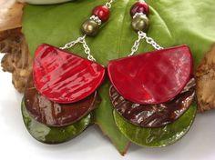 Tribal shell earrings £18.00
