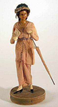 Doll  Lafitte Desirat  (French)  Date: 1911–16 Culture: French Medium: [no medium available] Dimensions: Height: 12 in. (30.5 cm) Credit Line: Gift of Claras, 1972 Accession Number: 1972.154.7