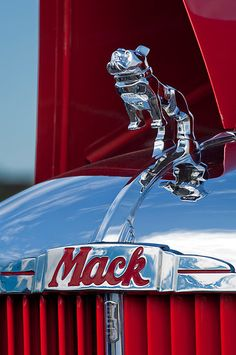 1952 L Model Mack Pumper Fire Truck Hood Ornament