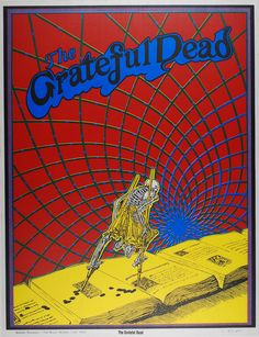 The Grateful Dead  Classic rock music psychedelic concert poster ☮ ☮ Hippie Style ☮ ☮