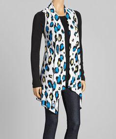 Look at this #zulilyfind! Sole Dione Blue & Yellow Splash Open Vest - Women & Plus by Sole Dione #zulilyfinds