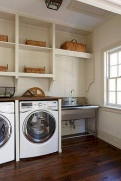 Utility sink laundry room install laundry sink install utility sink in laun Laundry Room Utility Sink, Laundry Room Rugs, Large Laundry Rooms, Laundry Room Cabinets, Basement Laundry, Small Laundry, Small Bathroom, Utility Sinks, Bathroom Ideas