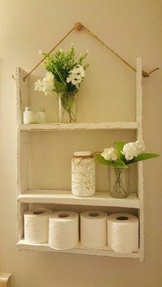 Mi Fiesta Creativa: Ideas para organizar tu baño con cajas y repisas de madera