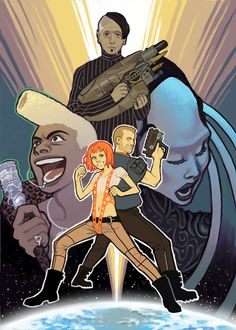 the 5th element, movie art, illustration