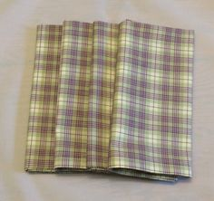 Dish Towels, Hand Towels, Tea Towels, Cloth Dinner Napkins, Bridal Shower Tables, Plaid Design, Classic House, Table Toppers, Eco Friendly