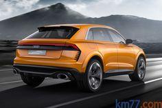 km77.com - Audi Q8 sport concept Todo terreno Naranja Krypton Exterior Lateral-Posterior 5 puertas