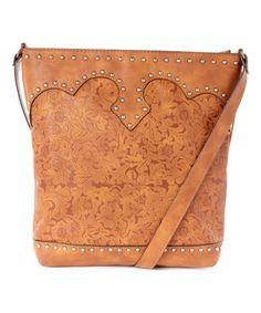 Tan Floral Crossbody Bag #zulily #zulilyfinds