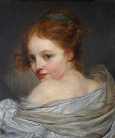 Jean Baptiste Greuze, Jeune Fille vue de dos 18th century