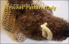 Boar Mounted Wild Boar's Head Crochet Pattern by YarnovationsShop, $3.99 Pet Pigs, Wild Boar, Wood Plaques, Gag Gifts, Crochet Patterns, Crochet Hats, Crafty, Dolls, Nursery Ideas