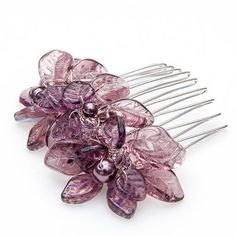 Purple Bridal Hair Comb Wedding Hair by CherylParrottJewelry, $51.95