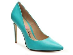 Women Opus Pump -Turquoise Faux Leather
