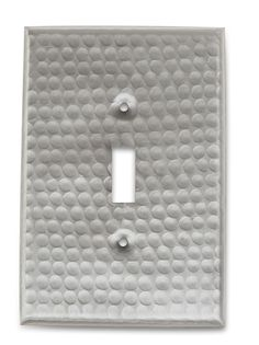 Monarch Nickel Hammered Single Switch Wall Plate