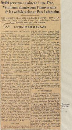Coupure de presse datant du 4 juillet 1932. SOURCE: Archives de la Ville de Montréal;  code: VM6-S10-D1901-38-A