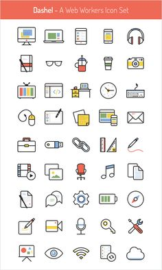 45 Free Vector Icon Set, #Flat, #Free, #Graphic #Design, #Icon, #PNG, #PSD, #Resource, #SVG, #Vector