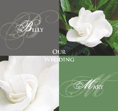 Gardenia Wedding Invitations and matching stationery. Elegant floral design that can be customised to your colours http://www.idovedesign.com.au