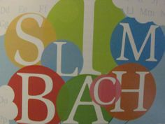 Slim Bach type poster #typography poster