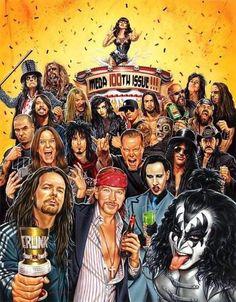 Joey Ramone, Axl Rose, Randy Blythe, Jason Edmiston, Scream Meme, Kerry King, Jonathan Davis, Zakk Wylde, Ronnie Radke