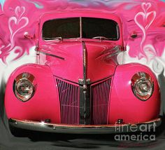1940 classic hot pink ford <3