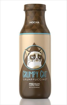 Grumpy Cat Now Has Its Own Branded Coffee Drink, the Grumppuccino | Adweek #packaging #coffee