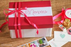 DIY gift – A box of memories + photos + step-by-step thrifty upcycling video
