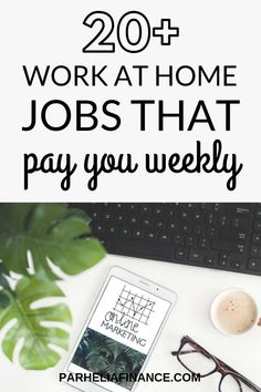 Looking for work at home jobs that pay weekly? Heres some legit jobs you can do to make money from home and get paid every week consistently! by thefrugalfellow Read Earn Money From Home, Way To Make Money, Make Money Online, Surveys For Money, Cash Money, Money Tips, Legitimate Work From Home, Easy Jobs, Work From Home Tips