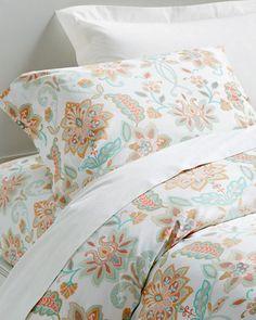 Garnet Hill   Juliette Floral Sateen Bedding