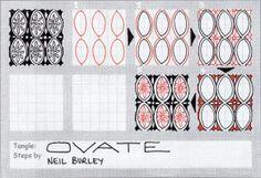 Ovate - tangle pattern