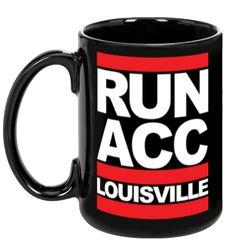 RUN ACC - Ceramic Mug (BLACK) from Share Louisville  #GoCards #Louisville #CardNation #Kentucky #RunACC #LouisvilleFootball #ACC #ShareLouisville #BeatMiami #UofL #CoffeeMug #CoffeeCup