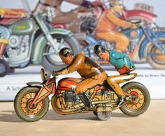 Antique Tin Toy CKO Kellerman Duo Tourist Motorcycle Germany Tippco Gely Arnold | eBay