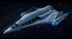 Sci-Fi Cargo Ship Commission by AdamKop.deviantart.com on @DeviantArt