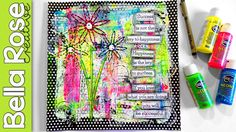 Stamping with Drywall Tape and TP Roll! - Mixed Media Art Journal