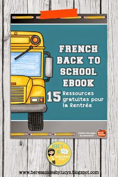 Free French Back-to-School eBook - La rentrée - Free eBook with links to many high-quality resources for teaching French French Teaching Resources, Teaching French, Teaching Ideas, Spanish Activities, Class Activities, Teaching Spanish, French Websites, Learning French For Kids, Learning Italian
