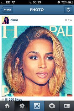Ciara hair. Love this color and cut!