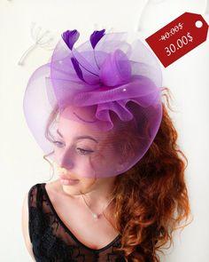 dbbb2b2708409 Purple Fascinator -