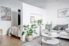 Scandinavian studio apartment Follow Gravity Home: Instagram -...