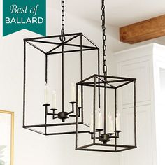 Hadley 4-Light Pendant Chandelier Ballard - entry way and/or dining chandy