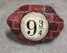 Harry Potter 9 and 3/4, Kings Cross Station painted rock