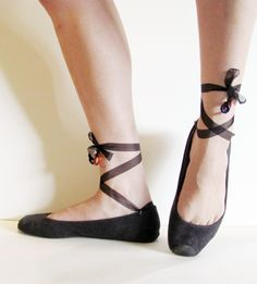 boring flats to ballet style toe-shoes . how to-sday - Shrimp Salad Circus