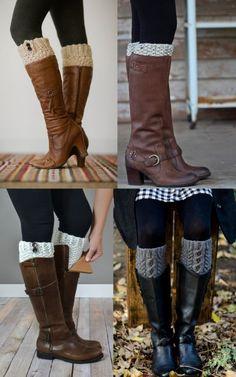 Nas botas de cano longo, as boots cuffs
