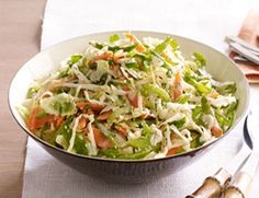 Diabetic Sesame-Ginger Slaw-This is a healthy Diabetic AND also a Weight Watchers 2 PointsPlus Asian style coleslaw recipe.